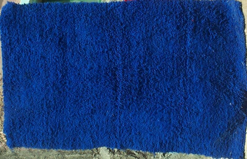 Piece 3.6009 Is A Medium Sized Bright Blue Pile Rug. The Back Is Flat, As  Can Be Seen In This Detail. The Bottom Edge Is A Bit Gathered, And I Am Not  Sure ...